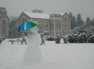 Snowman at the Campus